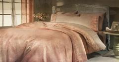 Набор КПБ с  покрывалом ПИКЕ  + полотенце Gelin Home DURU (персик) евро