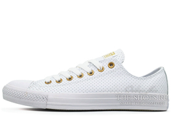 Кеды Converse All Stars Chuck Taylor Leather Low White Gold