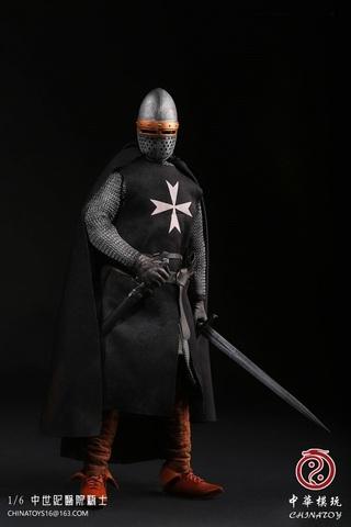 Средневековые воины фигурка 1/6 Рыцарь Госпитальер