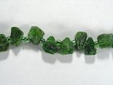 Бусина из хромдиопсида, фигурная, 7x4 - 12x5 мм (природная форма)