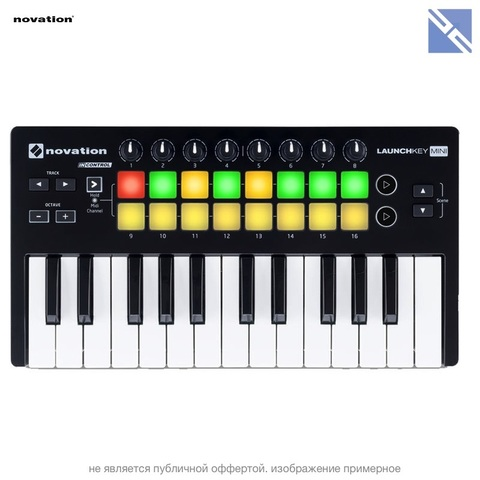 МИДИ Контроллер Novation Launchkey Mini MK2 25-Key USB MIDI Controller