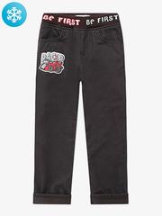 BWB000048 брюки для мальчиков утепленные, коричневые