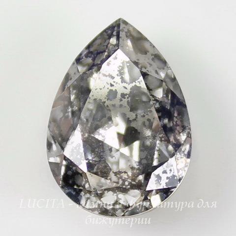 4320 Ювелирные стразы Сваровски Капля Crystal Silver Patina (18х13 мм) ()