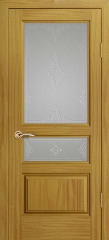 Дверь Океан Neo Classica Марсель , стекло белое, цвет ясень шервуд, остекленная