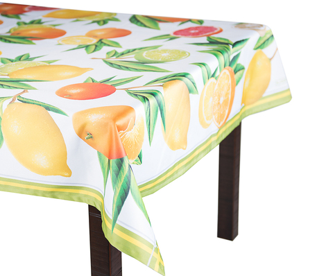 Скатерть 140x140 Blonder Home Citrus цветная