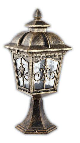 Светильник садово-парковый, 60W 220V E27 черное золото , IP44 , PL4094 (Feron)