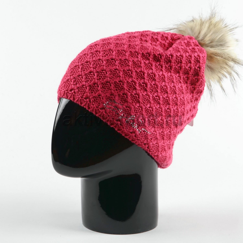 Женские шапки Шапка с помпоном Eisbar Ashley Lux Crystal 442 Ashley_lux_cristal_442.jpg