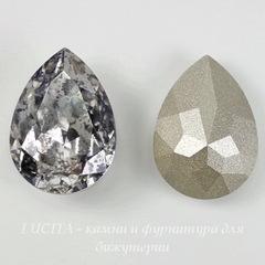4320 Ювелирные стразы Сваровски Капля Crystal Silver Patina (18х13 мм)