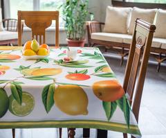 Скатерть 140x140 Blonder Home Citrus цветная