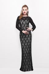 Paulina 5188 Черное торжественное платье, расшитое пайетками и бисером, спина открытая, элегантный шлейф