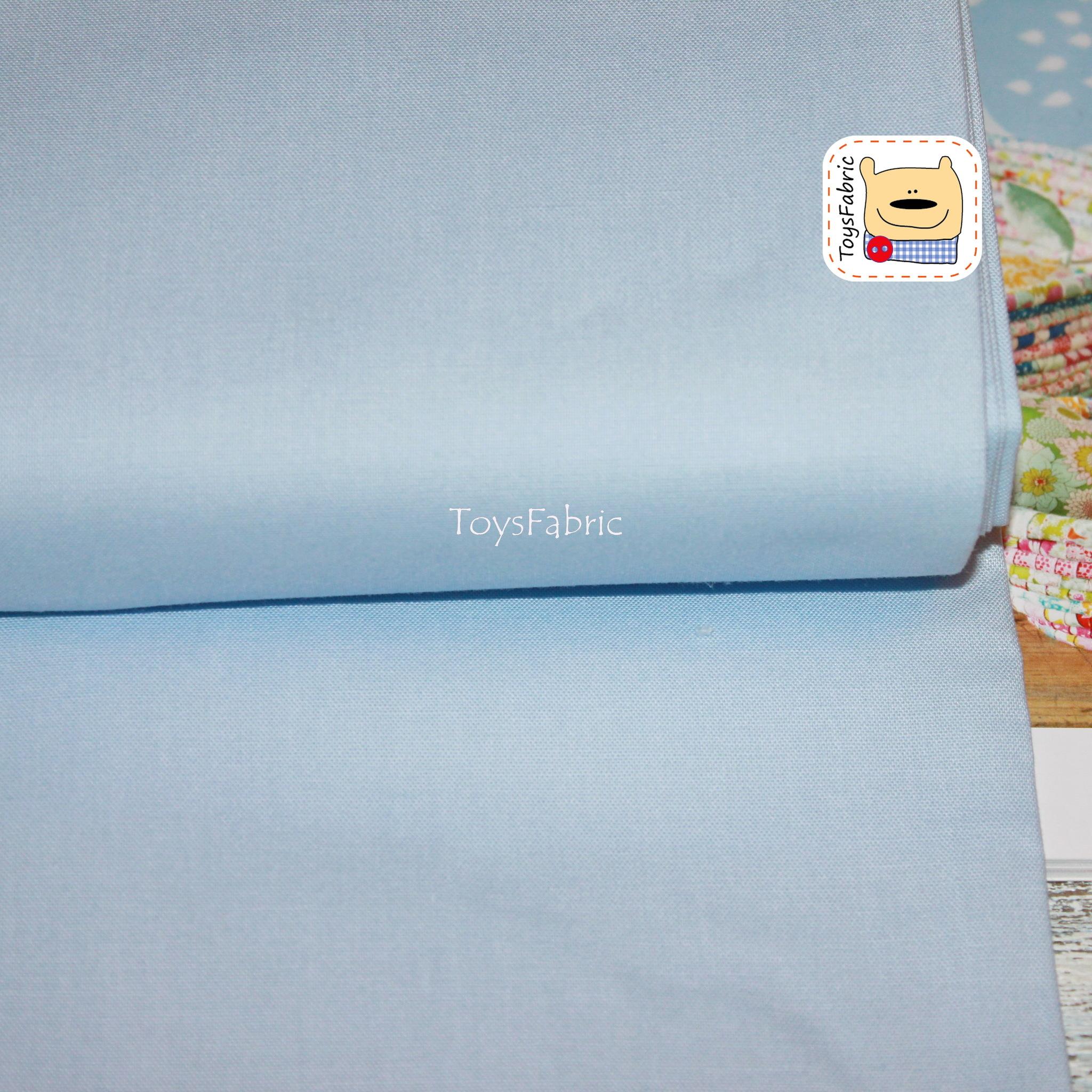 Ткань для пэчворка 20821 корейский хлопок (однотонный голубой) 45х55см