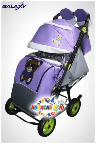 Санки коляска GALAXY CITY-1 «фиолетовый»