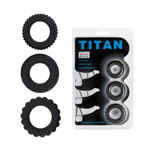 Набор эреционных колец TITAN имитация автомобильных шин фото