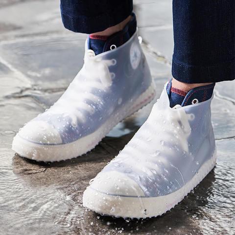 Многоразовые бахилы прозрачные Shoescondom (толстый силикон)