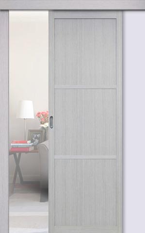Перегородка межкомнатная Optima Porte 130.111, цвет дуб серый, глухая (за 1 кв.м)