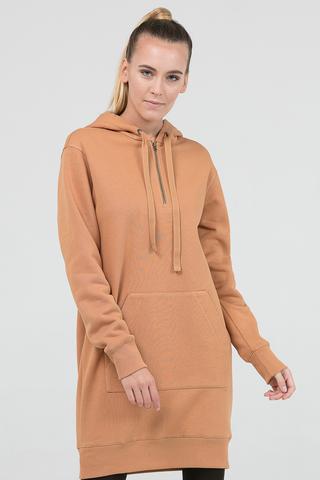 Платье-худи бежевое