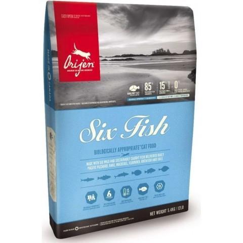 ORIJEN 6 FISH САТ 85.15 ДЛЯ КОШЕК НА ОСНОВЕ РЫБЫ 5.4 кг