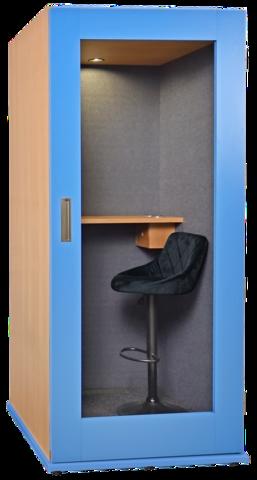 Офисная телефонная будка  25Дб, размеры 150 х 150 х 210  отделка акустический карпет