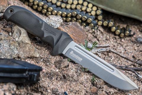Тактический нож Dominus PGK StoneWash Черные Ножны