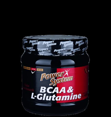 БЦАА и Л-Глутамин, порошок в банке 450гр. Пауэр систем