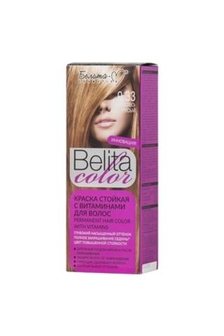 Белита-М Belita Color Стойкая краска с витаминами для волос тон №9.33 Орехово русый