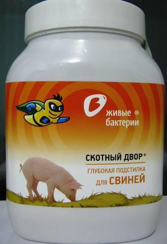 Ферментационная глубокая подстилка для свиней (живые бактерии) 500г