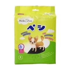 NekiZoo пеленки впитывающие для животных, гелевые, угольные с липучками 45х60 см 8 шт