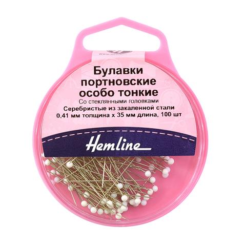 Булавки особо тонкие со стеклянными головками Hemline (Арт. 674/G002)