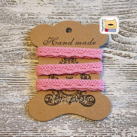 Кружево BB1-I  хлопок вязаное 2 метра (розовый)
