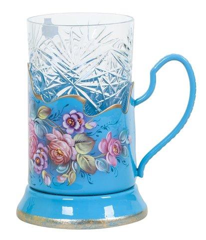 Zhostovo tea glass holder PODS010219001