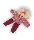 Костюм с курткой c мехом - Бордо. Одежда для кукол, пупсов и мягких игрушек.