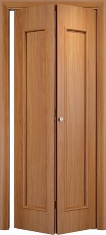 Дверь складная Верда С-17 (2 полотна), цвет миланский орех, глухая