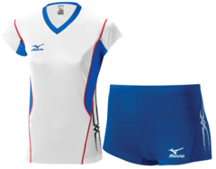 Женская волейбольная форма Mizuno Premium (V2EA4701M 01-V2EB4701M 22) белая