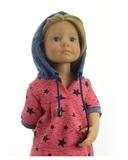 Большой  комплект (с платьем-туникой) - На кукле. Одежда для кукол, пупсов и мягких игрушек.