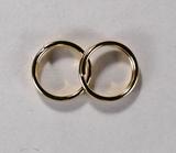 Кольцо двойное, 8 мм, позолоченное, 5 шт.