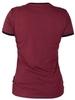 "Burgundy women's T-shirt ""Get in your skin"""