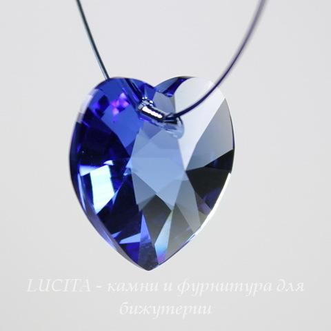 6228 Подвеска Сваровски Сердечко Sapphire (14,4х14 мм)