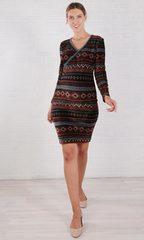 Евромама. Платье трикотажное с орнаментом для беременных и кормящих