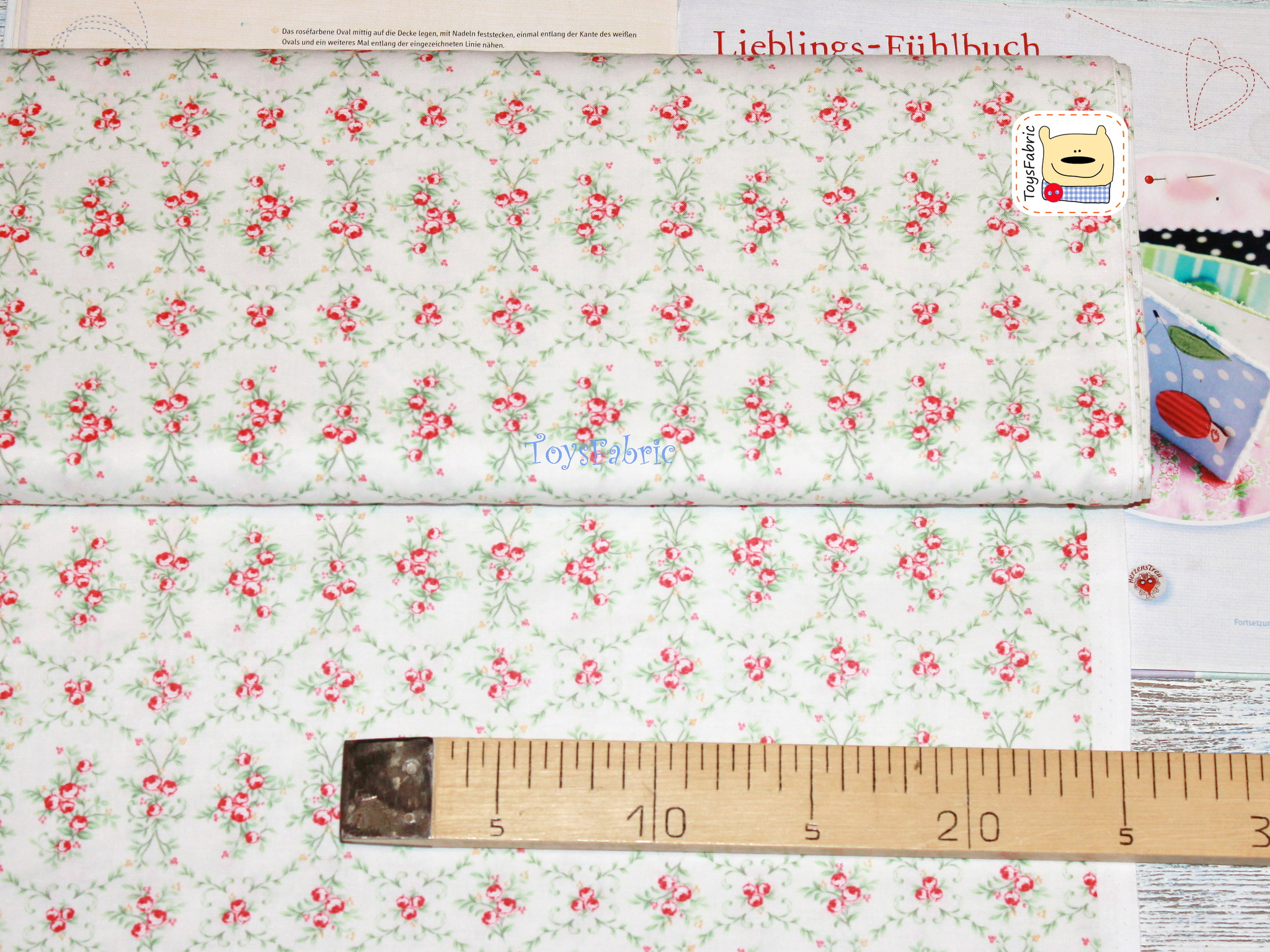 Ткань для пэчворка 20783 (орнамент розы) 45х55см