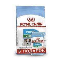 ПРОМО! Royal Canin Puppy Mini сухой корм для щенков мелких пород 800 г + пауч