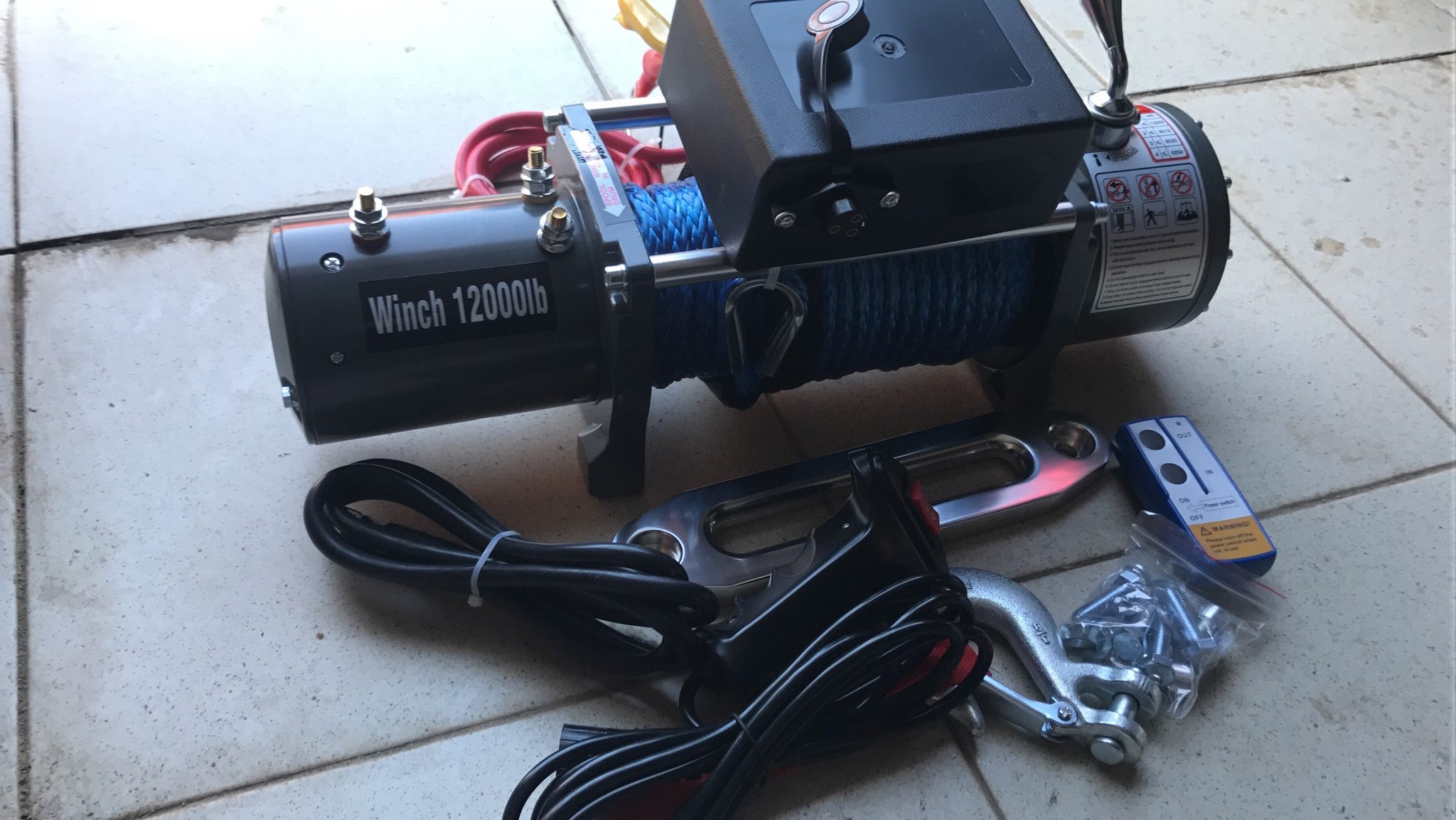 Electric winch 12000-12v