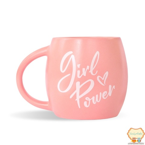 Чашка Girl power рожева