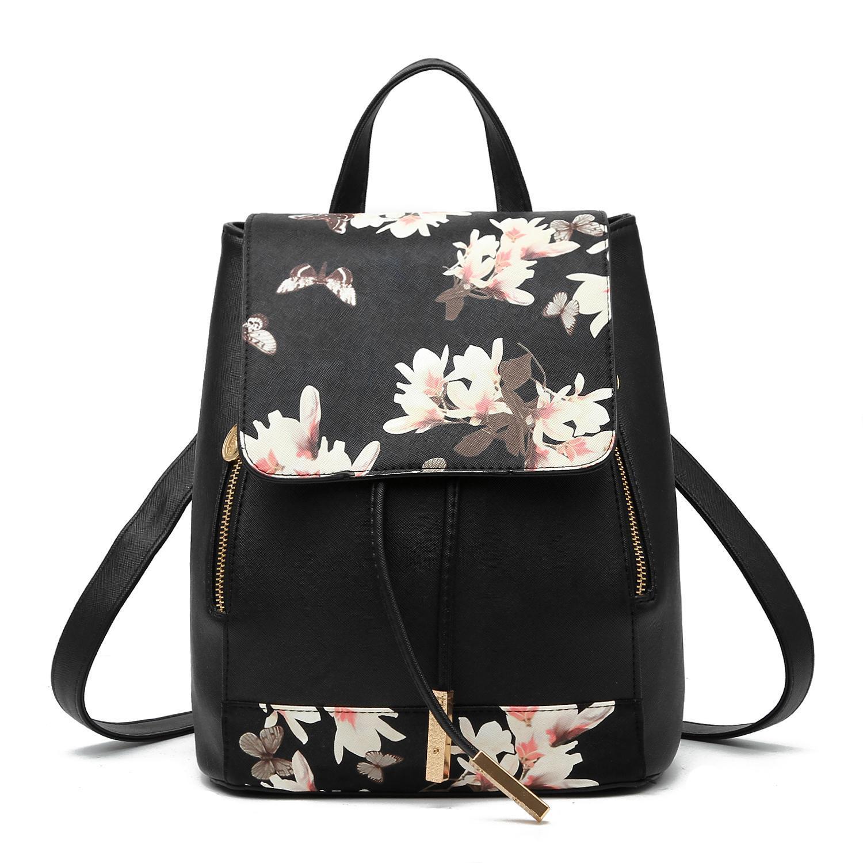 Женский средний рюкзак 24х29х15 см чёрный 3588-6