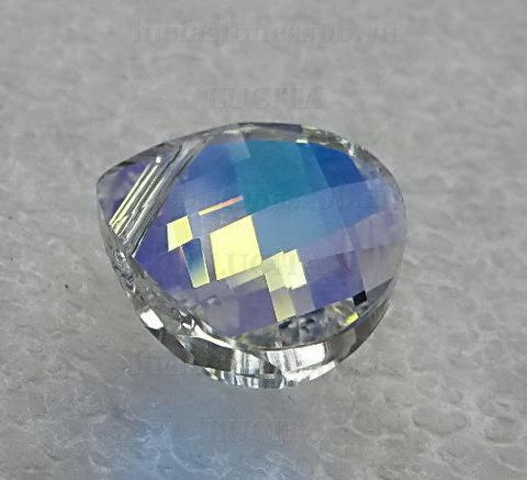 6012 Подвеска Сваровски Flat Briolette Crystal AB (15,4x14 мм) ()