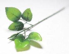 Стебель розы 6 листов, 50 см.