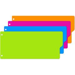 Разделитель листов полоски,пласт,12 л.,4 цвет.Attache Selection