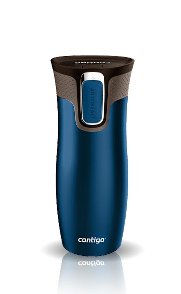 Термокружка Contigo West Loop (0,47 литра) синяя матовая