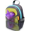 Рюкзак со страховочным поводком серый/зеленый