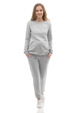 Джемпер для беременных и кормящих 10000 светло-серый