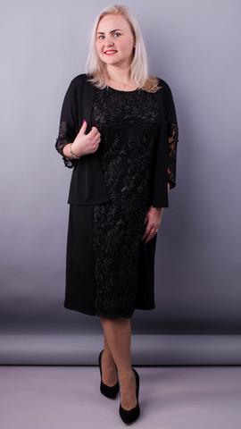 Sharliz. Women's stylish suit plus size. Graphite.